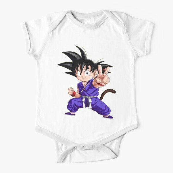 Pequeño Goku (Dragon Ball) Body de manga corta para bebé