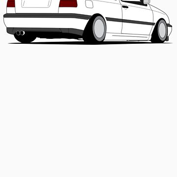 MKIII Gti Graphic-no text-White ink by VolkWear
