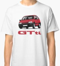 Daihatsu Charade GTti with badge, illustration, red Classic T-Shirt