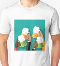People clinking beer glasses.  Unisex T-Shirt