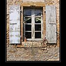 Old window with hanging objects by Roberta Angiolani
