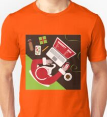 Santa inputs his naughty or nice list  T-Shirt