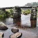 Oldest bridge in the rain by Roberta Angiolani