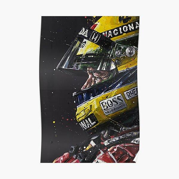 Illustration Ayrton Senna Art Poster