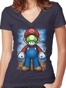 Plumber of Man Women's Fitted V-Neck T-Shirt