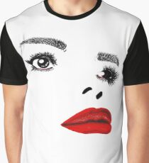 Painted Lady Red Gloss Graphic T-Shirt