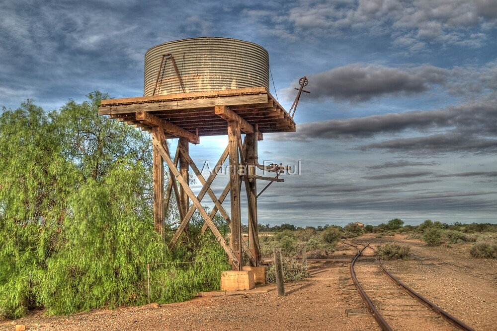 Railway To Nowhere, Silverton, NSW, Australia by Adrian Paul