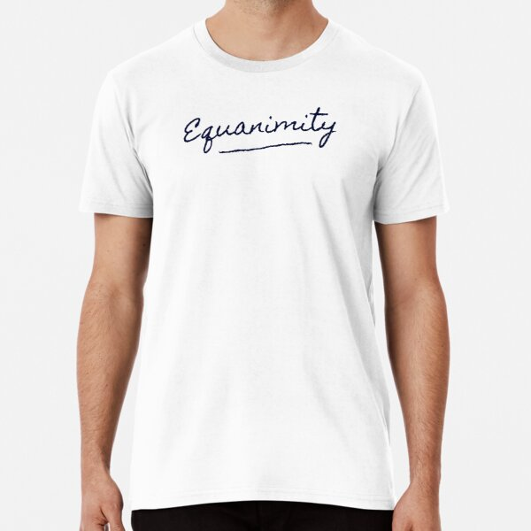 Equanimity in blue Premium T-Shirt