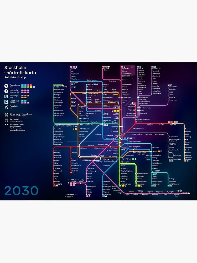 Future Stockholm Rail Network Map by omelekhinpasha