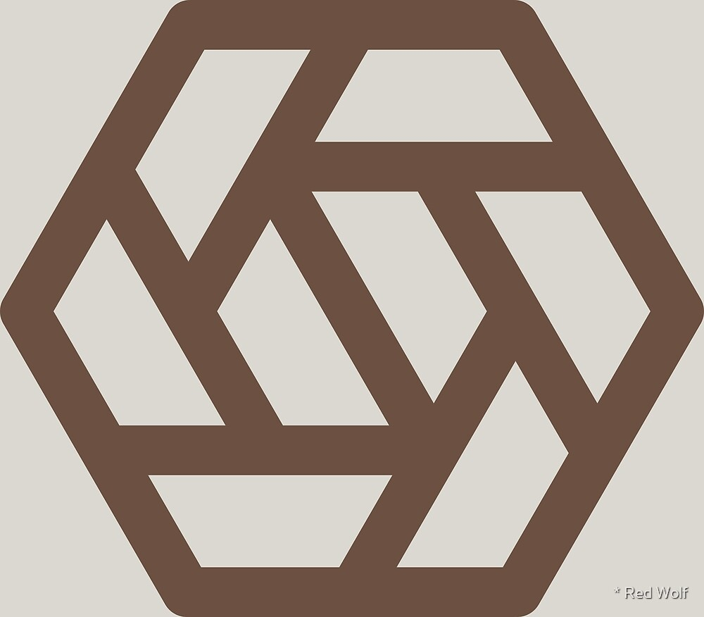 Geometric Pattern: Aperture: Brownstone by * Red Wolf