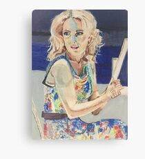 Blanche in Blue Canvas Print