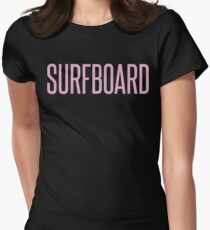 Surfboard Womens Fitted T-Shirt