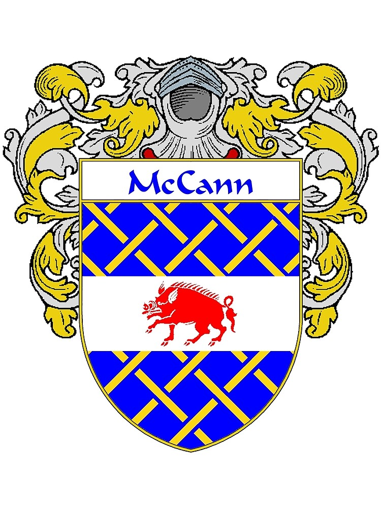 McCann Coat of Arms/Family Crest by William Martin