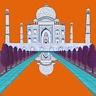 Ein Ruhetag in Agra (orange) von Cheryl Olver