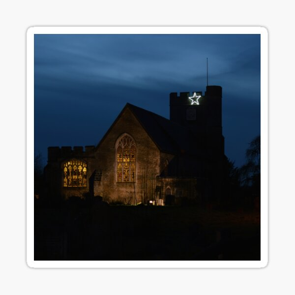 St Peter and St Paul Church at Night Sticker