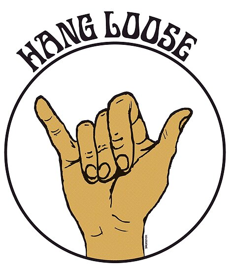 Hang Loose Shaka Sign Posters By Thedrumstick Redbubble