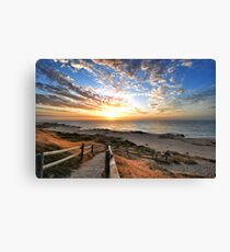 Stairs to the Sunset Canvas Print