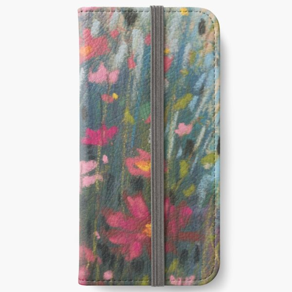 Pink Asters iPhone Wallet