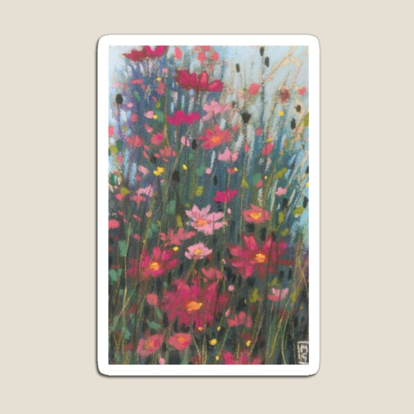 Pink Asters Magnet