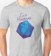 Crit Happens D20 Gamer   Natural 20 Unisex T-Shirt