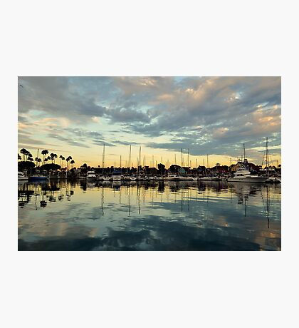 Shoreline Village Marina Photographic Print
