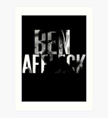 Ben Affleck Art Print