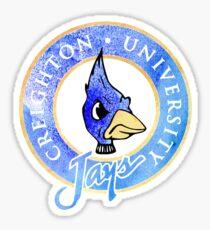 Creighton University Jays Watercolor Sticker