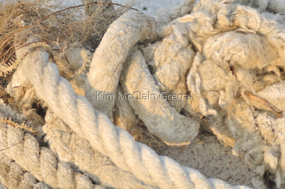 Rope on the Beach, As Is by Kim McClain Gregal