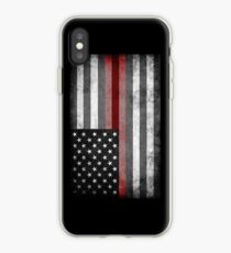 The Thin Red Line - American Firefighter iPhone Case
