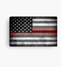 The Thin Red Line - American Firefighter Canvas Print