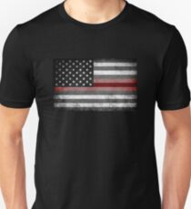 Camiseta unisex The Thin Red Line - Bombero estadounidense