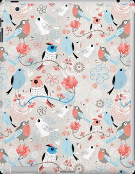 pattern love birds  by Tanor
