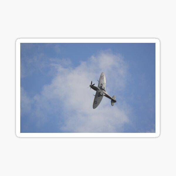 Spitfire above Headcorn Village Sticker