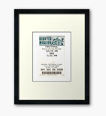 Haunted Mansion Fastpass Framed Print