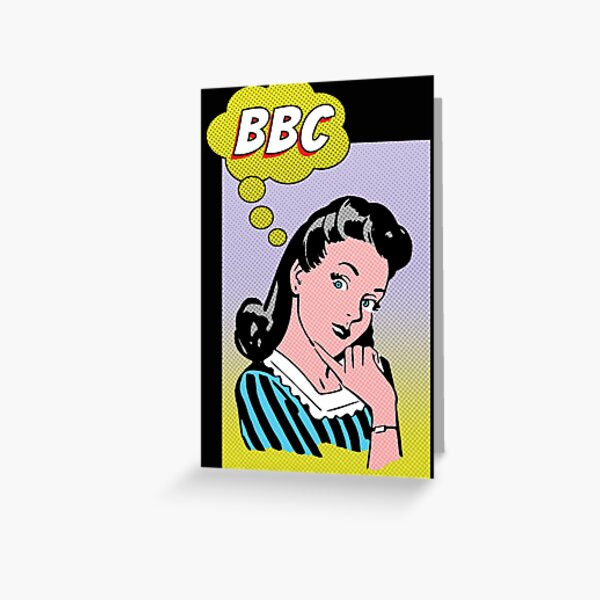 Thinking About a BBC Funny Hot Wife Vintage Comic Style Greeting Card