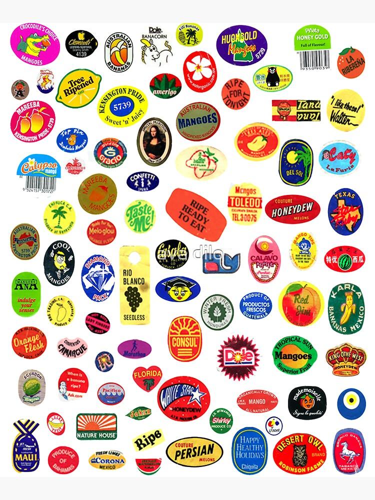 fruit stickers by adilo
