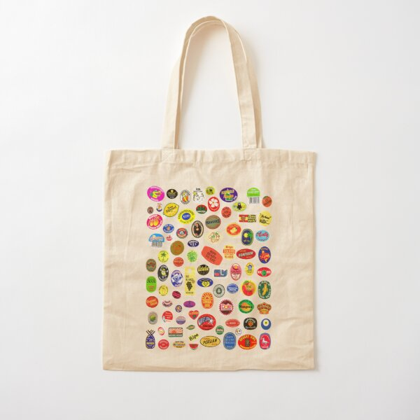 fruit stickers Cotton Tote Bag