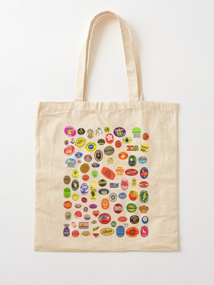 Alternate view of fruit stickers Tote Bag