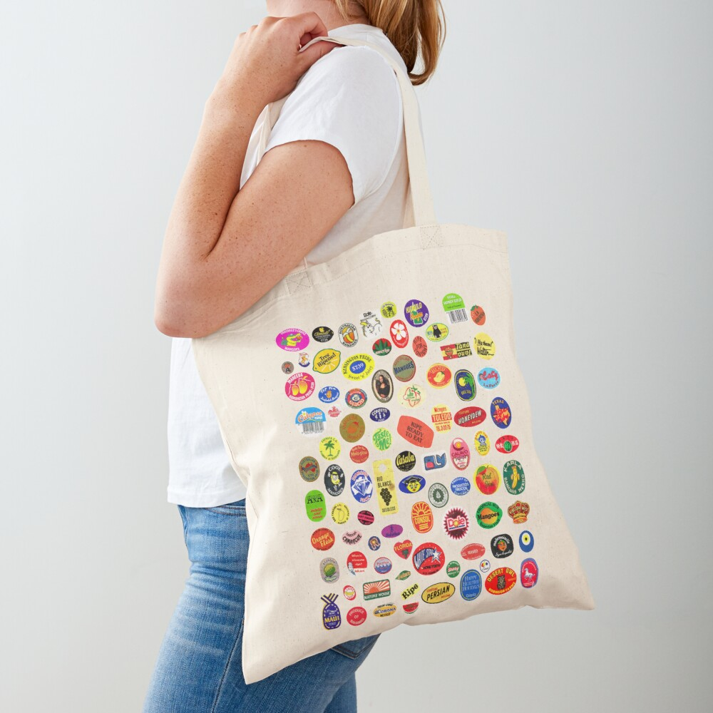 fruit stickers Tote Bag