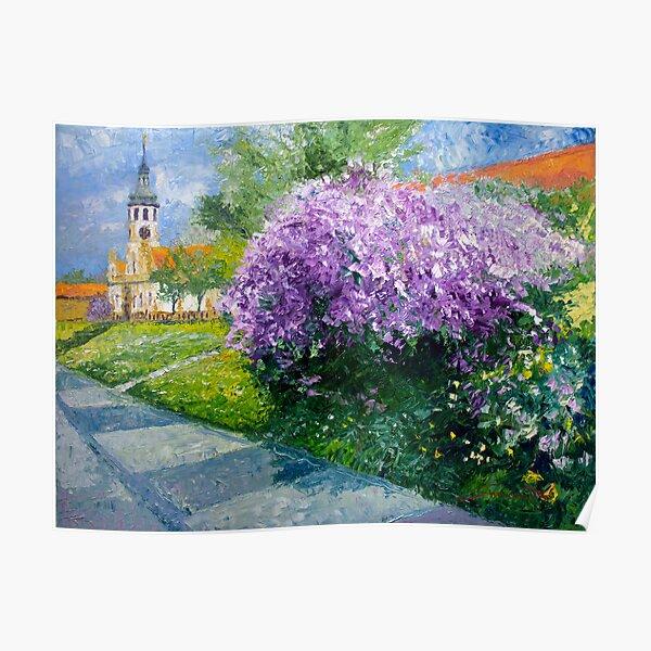 Prague Spring Loreta Lilacs  Poster