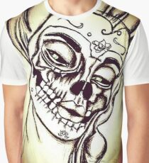 Victorian Lady SugarSkull Graphic T-Shirt