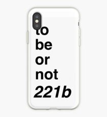 to be or not 221b iPhone-Hülle & Cover