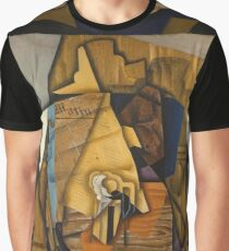 Juan Gris - Man At The Cafe. Abstract painting: abstract art, geometric, expressionism, composition, lines, forms, creative fusion, spot, shape, illusion, fantasy future Graphic T-Shirt