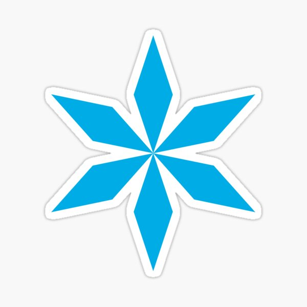 Cyan Diamond Flowers Sticker