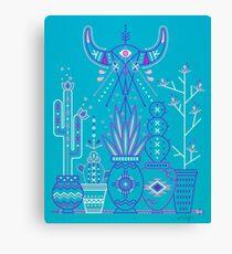 Santa Fe Garden – Blue & Purple Canvas Print