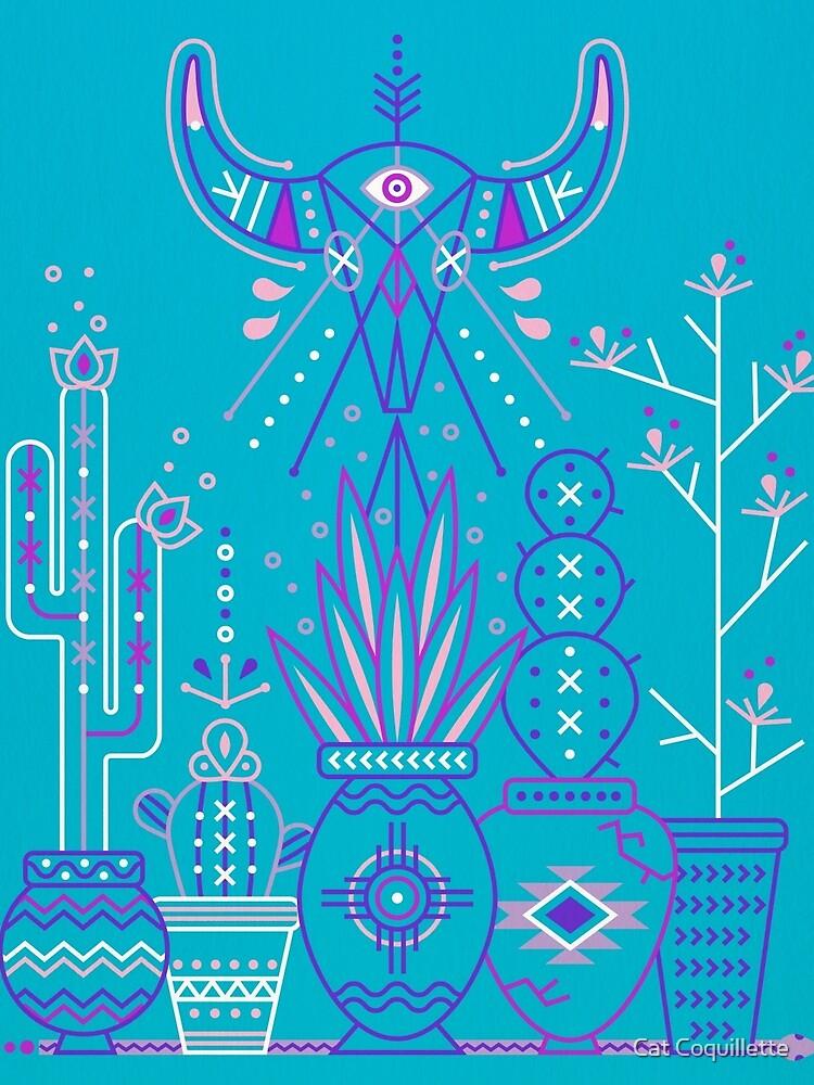 Santa Fe Garden - Blau und Lila von catcoq