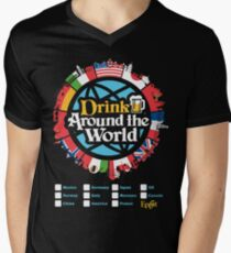 Drink Around the World - EPCOT Checklist v1 Men's V-Neck T-Shirt