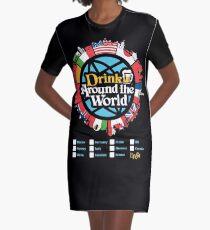 Drink Around the World - EPCOT Checklist v1 Graphic T-Shirt Dress