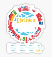 Drink Around the World - EPCOT Checklist v1 Sticker
