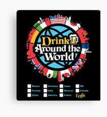 Drink Around the World - EPCOT Checklist v1 Canvas Print